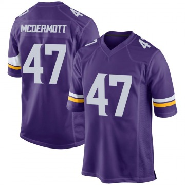Youth Kevin McDermott Minnesota Vikings Nike Game Team Color Jersey - Purple